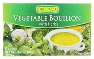 Rapunzel - Vegetable Bouillon Vegan with Sea Salt & Herbs - 8 cubes