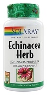 Solaray - Echinacea Herb Echinacea Purpurea 380 mg. - 100 Capsules by Solaray