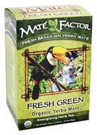 Mate Factor - Organic Yerba Mate Energizing Herb Tea Fresh Green - 24 Tea Bags by Mate Factor