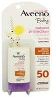 Image of Aveeno - Baby Mineral Block Natural Protection Sunblock Stick for Face Fragrance-Free 50 SPF - 0.5 oz.