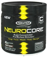 Image of Muscletech Products - NeuroCore Super-Concentrated Pre-Workout Stimulant Fruit Punch 45 Servings - 0.38 lbs.