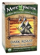 Mate Factor - Organic Yerba Mate Energizing Herb Tea Dark Roast - 20 Tea Bags