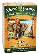 Mate Factor - Organic Yerba Mate Energizing Herb Tea Chai - 20 Tea Bags by Mate Factor