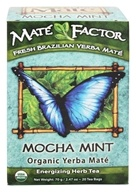 Mate Factor - Organic Yerba Mate Energizing Herb Tea Mocha Mint - 20 Tea Bags by Mate Factor