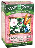 Mate Factor - Organic Yerba Mate Energizing Herb Tea Tropical Lime - 20 Tea Bags