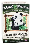 Mate Factor - Organic Yerba Mate Energizing Herb Tea Green Tea Ginseng with Echinacea - 20 Tea Bags by Mate Factor