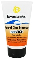 Beyond Coastal - Sunscreen Natural Clear 30 SPF - 4 oz. OVERSTOCKED DAILY DEAL - $13.33