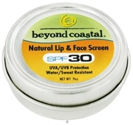 Beyond Coastal - Lip & Face Screen Natural 30 SPF - 0.9 oz. DAILY DEAL