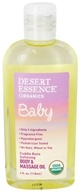 Image of Desert Essence - Baby Cuddle Buns Softening Body & Massage Oil - 4 oz.