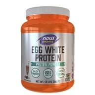 NOW Foods - Eggwhite Protein Rich Chocolate - 1.5 lbs. (733739020444)