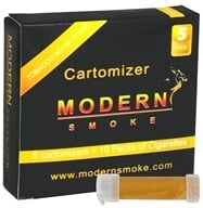 Modern Smoke - Electronic Cigarette Cartomizer Tobacco Flavor No Nicotine - 5 Pack(s) (851247003152)