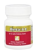 Intensive Nutrition, Inc. - Beta-12 Methylcobalamin with Folic Acid 3 mg. - 60 Tablets - $28.57