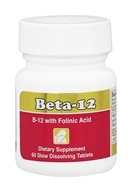 Intensive Nutrition, Inc. - Beta-12 Methylcobalamin with Folic Acid 3 mg. - 60 Tablets