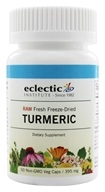 Image of Eclectic Institute - Turmeric Root Fresh Raw Freeze-Dried 395 mg. - 50 Vegetarian Capsules