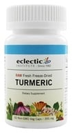 Eclectic Institute - Turmeric Root Fresh Raw Freeze-Dried 395 mg. - 50 Vegetarian Capsules - $8.06