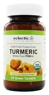 Eclectic Institute - Turmeric Powder Raw Fresh Freeze-Dried - 60 Grams (023363376230)