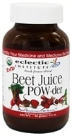 Eclectic Institute - Beet Juice Powder Raw Fresh Freeze-Dried - 90 Grams - $10.42