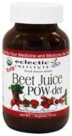 Eclectic Institute - Beet Juice Powder Raw Fresh Freeze-Dried - 90 Grams by Eclectic Institute