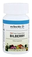 Eclectic Institute - American Bilberry Fruit Fresh Raw Freeze-Dried 400 mg. - 60 Vegetarian Capsules - $7.68