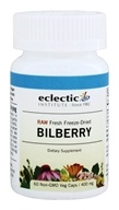 Eclectic Institute - American Bilberry Fruit Fresh Raw Freeze-Dried 400 mg. - 60 Vegetarian Capsules (023363306688)