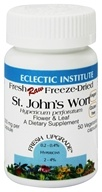 Eclectic Institute - St. John's Wort Flower & Leaf Fresh Raw Freeze-Dried 300 mg. - 50 Vegetarian Capsules (023363305001)