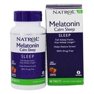 Image of Natrol - Advanced Melatonin Plus Fast Dissolve Strawberry 6 mg. - 60 Tablets