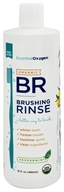 Essential Oxygen - Organic Brushing Rinse Toothpaste Plus Mouthwash Peppermint - 16 oz. - $9.49