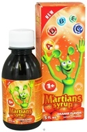 Natural Choice New York - Martians Syrup Orange Flavor - 5 oz. CLEARANCE PRICED (850416003016)