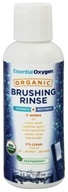 Essential Oxygen - Organic Brushing Rinse Toothpaste Plus Mouthwash Peppermint - 4 oz. - $4.79