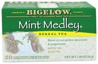 Bigelow Tea - Herb Tea All Natural Caffeine Free Mint Medley - 20 Tea Bags (072310000735)