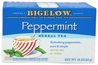Bigelow Tea - Herb Tea All Natural Caffeine Free Peppermint - 20 Tea Bags (072310000391)