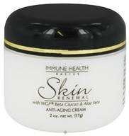 Immune Health Basics - Skin Renewal Anti-Aging Cream with WGP Beta Glucan and Aloe Vera - 2 oz.