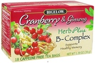 Bigelow Tea - Herb Plus B-Complex Cranberry & Ginseng - 18 Tea Bags