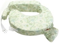 Image of My Brest Friend - Original Nursing Pillow Green Paisley - CLEARANCE PRICED