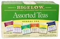 Bigelow Tea - Six Variety Pack Assorted Herb Teas Caffeine Free - 18 Tea Bags (072310000988)