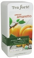 Image of Tea Forte - Herbal Retreat Organic Relaxation Tea Naturally Caffeine Free Apricot Amaretto - 20 Tea Bags