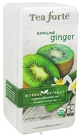 Image of Tea Forte - Herbal Retreat Organic Relaxation Tea Naturally Caffeine Free Kiwi Lime Ginger - 15 Tea Bags