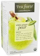 Tea Forte - White Tea Organic Filterbags White Ginger Pear - 16 Tea Bags