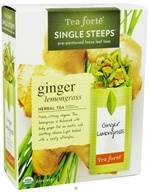 Image of Tea Forte - Herbal Tea Organic Single Steeps Ginger Lemongrass - 12 Packet(s)