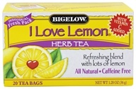Bigelow Tea - Herb Tea with Vitamin C All Natural Caffeine Free I Love Lemon - 20 Tea Bags (072310000520)