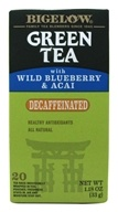 Bigelow Tea - Green Tea Decaffeinated with Blueberry & Acai - 20 Tea Bags (072310042803)