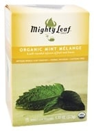 Mighty Leaf - Herbal Infusion Organic Mint Melange - 15 Tea Bags (656252300087)