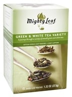 Mighty Leaf - Assorted Whole Tea Leaf Green & White - 15 Tea Bags (656252300308)