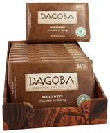 Dagoba Organic Chocolate - Semisweet Chocolate Bar for Baking - 6 oz. (810474005025)