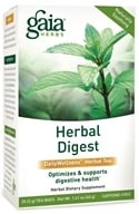 Gaia Herbs - Herbal Digest DailyWellness Herbal Tea - 20 Tea Bags, from category: Teas