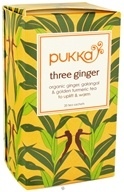 Pukka Herbs - Organic Herbal Tea Three Ginger - 20 Tea Bags, from category: Teas