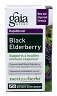 Gaia Herbs - Black Elderberry Liquid Phyto-Caps - 30 Liquid-Filled Capsules (751063403726)