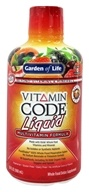 Garden of Life - Vitamin Code Liquid Fruit Punch Flavor - 30 oz. by Garden of Life