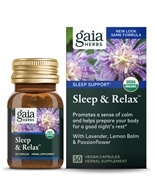 Image of Gaia Herbs - Sleep & Relax - 50 Capsules