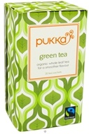 Image of Pukka Herbs - Green Tea Whole Leaf Organic - 20 Tea Bags